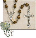 Milagros ND309 Brown Oval Rosary