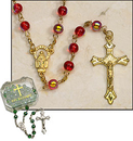 Milagros ND322 Ruby Rosary