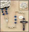 Creed ND343 6Mm Marian Blue Rose Petal Rosary In Rose Case