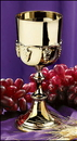 Sudbury NS490 Gold Communion Cup With Grapes Design