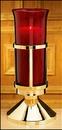 Sudbury NS693 Sanctuary Lamp With Ruby Sanctuary Globe