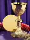 Sudbury NS712 Vine Embossed Chalice And Paten Set