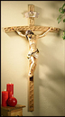 Christian Brands PC155 Wood Crucifix With Resin Corpus