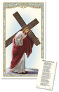 Ambrosiana PC887 Christ With Cross Laminated Holy Card