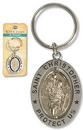Christian Brands PD018 St Christopher Revolving Key Ring