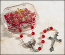 Creed PD076 Red Confirmation Rosary