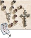 February (Dark Amethyst) Double Capped Birthstone Rosary
