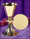 Stratford PS626 Ornate Node Chalice With Hammered Base And Paten
