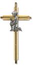 Christian Brands PT459 Oak/Brass First Communion Cross - Boy