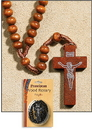 Creed RT215 Light Brown Franciscan Wood Rosary