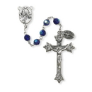 Creed SO17SP20D Prague Collection 7 mm AB Crystal Rosary - Sapphire