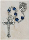 Creed SO27SPDC20D Double Capped Vienna Sapphire Rosary