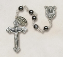 Creed SO36HM5D Genuine Hematite Italian Semi-Precious Rosary