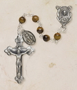 Creed SO36TE5D Genuine Tiger Eye Italian Semi-Precious Rosary
