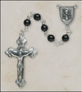 Creed SO536OXP5 Onyx First Communion Rosary - Chalice/Grapes Center