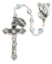Creed SO6ABSL18D 6MM Mother's Embrace AB Rosary - Silver