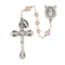 Creed SO6FTRS173D Frosted Crystal 6MM Italian Rosary - Rose