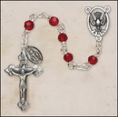 Creed SOC26RU5D 6 mm Faceted Ruby Crystal Confirmation Rosary