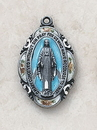Creed SS1751 Silver/Blue Miraculous Medal