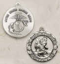Creed SS242MC Sterling Silver St. Christopher Marine Corps Medal