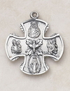 Creed SS4444 Sterling Four Way Medal