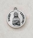 Creed SS729-11 Sterling Patron Saint Caroline Medal
