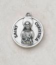 Creed SS729-14 Sterling Patron Saint Christina Medal