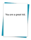 Christian Brands TA-240 Greeting Card - You are a great kid