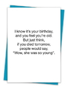 Christian Brands TA-262 Greeting Card - She Was So Young
