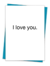 Christian Brands TA-35 Greeting Card - I love you