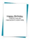 Christian Brands TA-416 Greeting Card - Crazy For Social Media