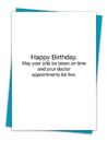 Christian Brands TA-466 Greeting Card - May Your Pills be Taken on Time