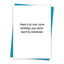 Christian Brands TA-606 Greeting Card - Don't Want to Celebrate