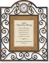 Heartfelt TC817 50Th Anniversary Blessing Psalm 129:8 Table Clock