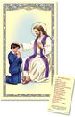 Ambrosiana TS074 Reconciliation - Boy Laminated Holy Card
