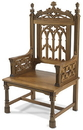 Robert Smith TS984 Canterbury Collection Celebrant Chair - Medium Stain