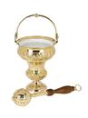 Sudbury VC224 Ornate Holy Water Pot With Sprinkler Set