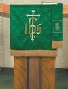 RJ Toomey VC733 Maltese Jacquard Pulpit Scarf: Green