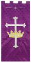 RJ Toomey VC736 Maltese Jacquard Banner: Purple