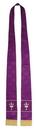 RJ Toomey VC737 Maltese Jacquard Stole: Purple