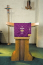 RJ Toomey VC738 Maltese Jacquard Bookmark: Purple
