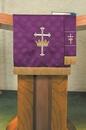 RJ Toomey VC739 Maltese Jacquard Pulpit Scarf: Purple