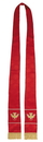 RJ Toomey VC743 Maltese Jacquard Stole: Red