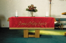 RJ Toomey VC745 Maltese Jacquard Pulpit Scarf:  Red