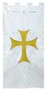 RJ Toomey VC748 Maltese Jacquard Banner: White