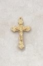 Creed VP417 24Kt Gold Plate Over Sterling Crucifix