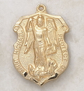 Creed VP9393 24Kt Gold Plate Over Sterling St. Michael Medal