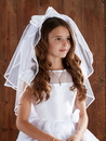 Sacred Traditions WC524 Satin Bow Headband W/Pearls First Communion Veil
