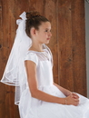 Sacred Traditions WC525 Back Bows W Haircomb First Communion Veil