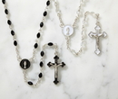 Creed WC721 First Communion Black Enamel Rosary